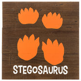 Stegosaurus Tracks Wood Wall Decor